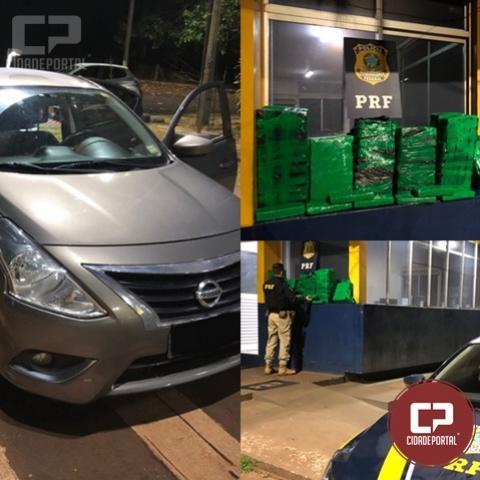 PRF prende casal transportando 134 Kg de entorpecentes em Santa Terezinha