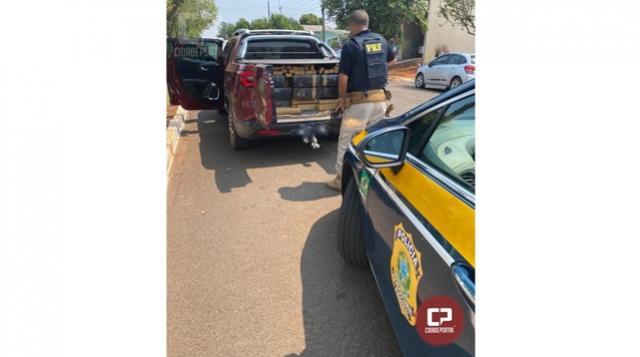 PRF apreende mais de meia tonelada de maconha e prende duas pessoas em Marmeleiro
