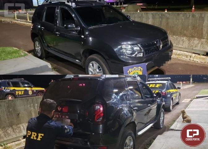 PRF recupera veículo em Santa Terezinha de Itaipu