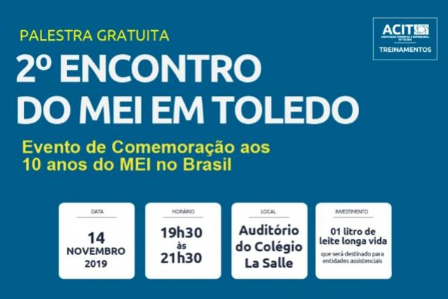 Toledo realiza 2° Encontro do MEI com palestra Gratuita