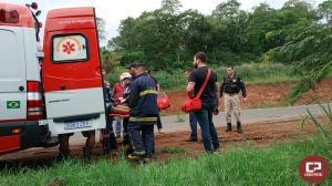 PRF atende acidente na BR-163 em Capitão Leônidas Marques