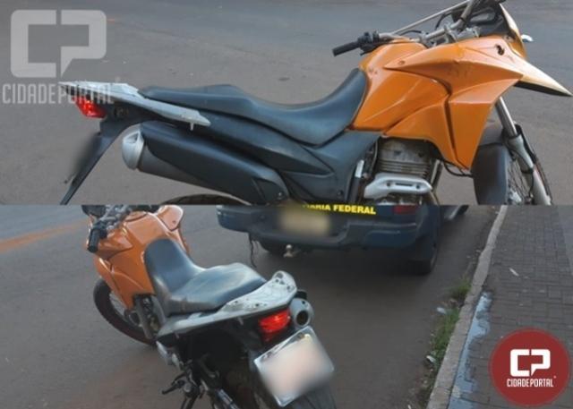 PRF da Ponte da Amizade recupera motocicleta furtada