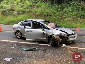 PRF atende acidente em nova Laranjeiras/PR