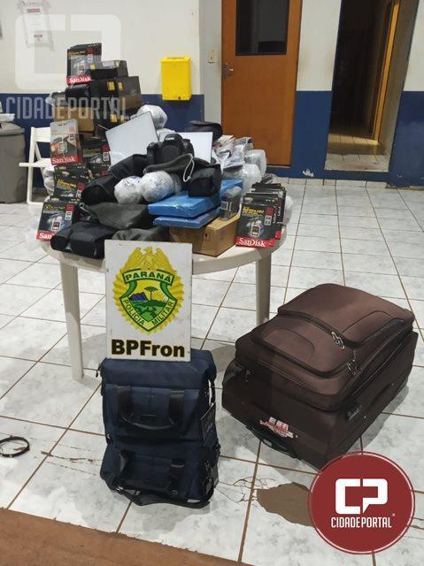 BPFRON apreende produtos oriundos do Paraguai em Cascavel