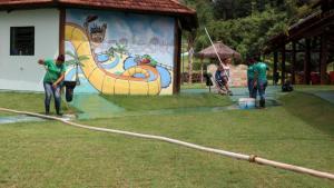 Parque das Águas de Toledo fechado por vandalismo