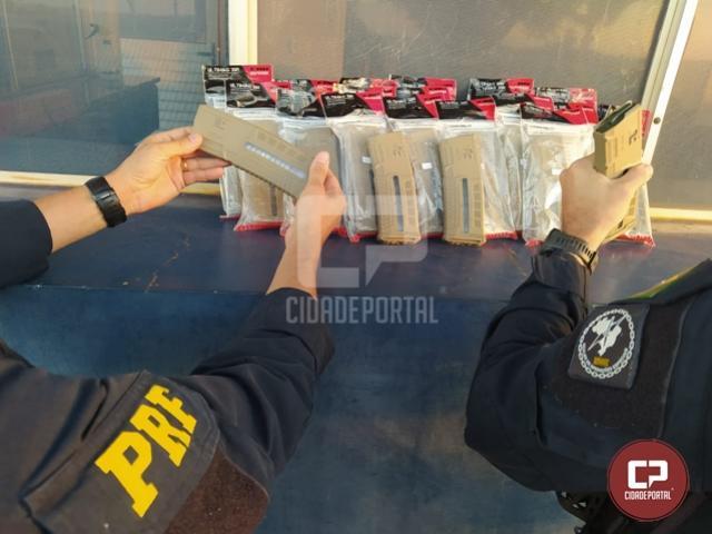 PRF prende homem transportando 28 carregadores de fuzil em Santa Terezinha de Itaipu
