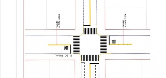 Deptrans vai mudar preferencial no cruzamento das Ruas do Pinhal e Piratini