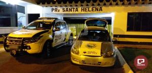 PRE de Santa Helena apreende veículo e prende casal transportando mais de 138 kg de maconha