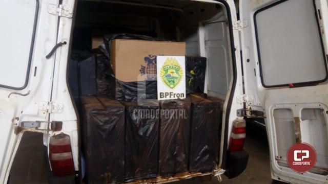 BPFron apreende carro carregado com cigarros contrabandeados em Toledo