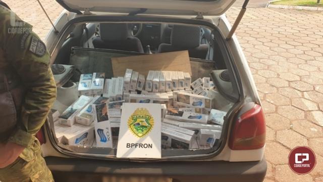 BPFron apreende veículo carregado com cigarros contrabandeados em Toledo