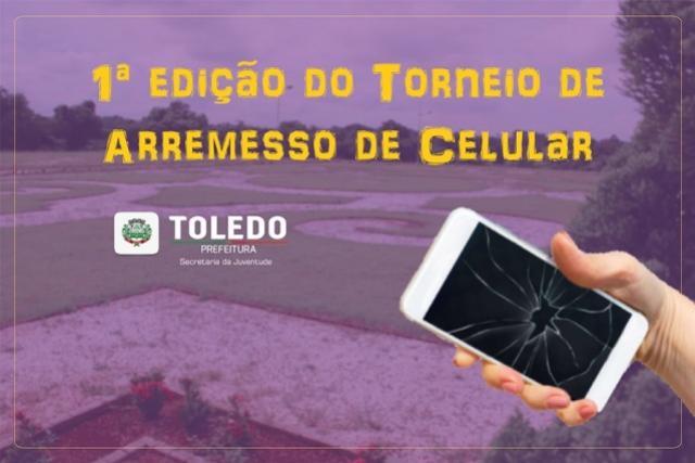 Domingo acontece o 1º Torneio de Arremesso de celular no Parque do Povo em Toledo