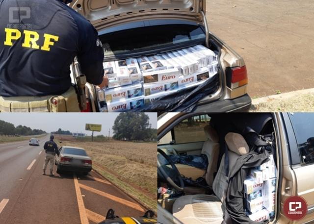 PRF apreende grande quantidade de cigarros contrabandeados em São Miguel do Iguaçu