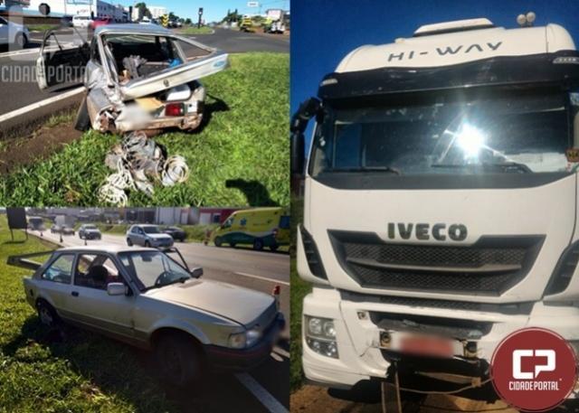 Após acidente indivíduo é preso por dirigir sob influência de álcool em Cascavel
