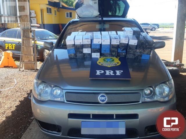 PRF apreende celulares transportados em compartimento oculto do veículo em Santa Terezinha de Itaipu