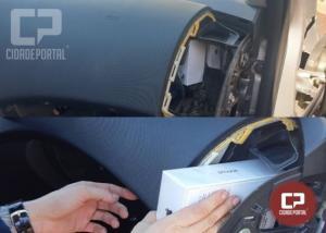 PRF detém veículo com fundo falso no painel em Santa Terezinha de Itaipu
