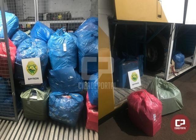 BPFron e Receita Federal apreendem volumes de produtos descaminhados em Cascavel