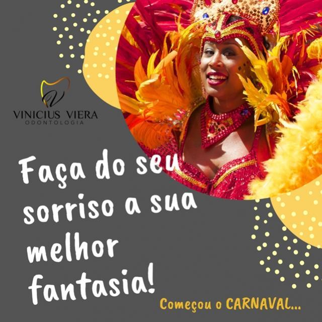 Consultório Vinicius Vieira - Faça do seu sorriso a sua melhor fantasia para o Carnaval