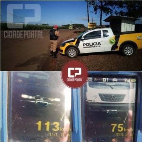 PRE flagra 73 motoristas acima da velocidade em operação radar em Marechal Cândido Rondon