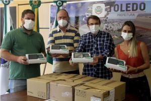 Combate à Covid-19: Sociedade entrega bombas de infusão e equipos para o PAM