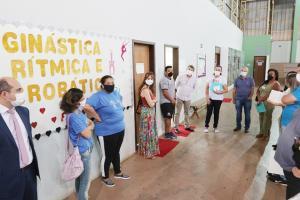 Comitiva avalia estrutura do CIPE na Vila Operária
