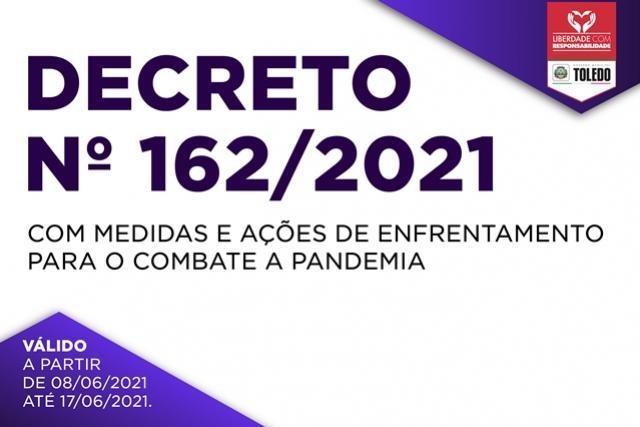 Covid-19: Novo decreto restringe atividades comerciais em Toledo no domingo, 13