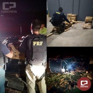 Após perseguição, PRF e PF prendem traficante com 277 quilos de maconha em Cascavel