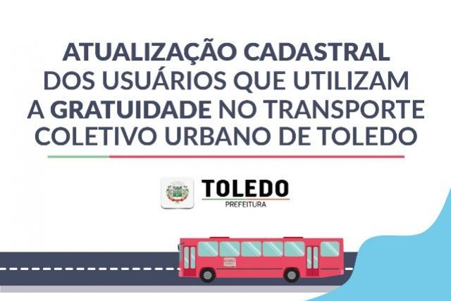 Usuários do transporte coletivo beneficiários de Toledo devem atualizar cadastro