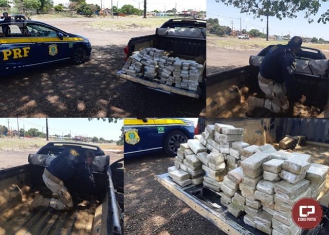PRF prende homem transportando mais de 65 kg de maconha em Santa Tereza do Oeste