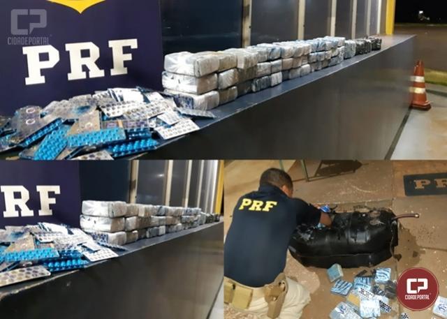 PRF apreende grande quantidade de medicamentos em Santa Terezinha de Itaipu