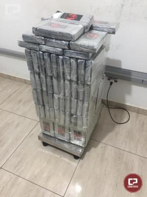 PF e BPFron prendem homem em flagrante com 130 kg de cocaína em Foz do Iguaçu