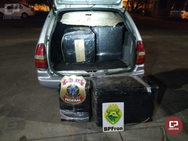 PF e BPFron apreendem diversas mercadorias contrabandeadas em Foz do Iguaçu