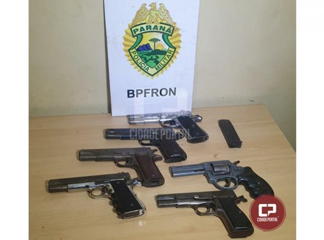 BPFron apreende seis armas de fogo com passageira de ônibus durante Operação Hórus em Cascavel
