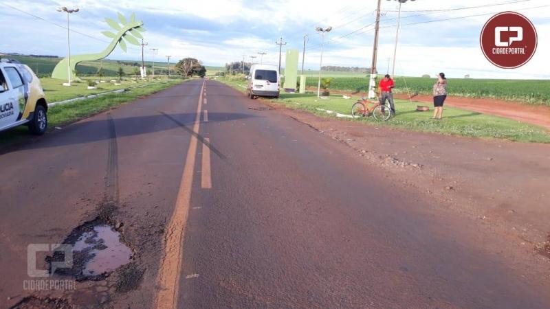 Mais uma tragédia na PR-180: Ciclista morre após acidente no Portal de entrada de Quarto Centenário