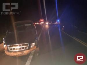 PRF atende acidente com vítimas no km 513 da BR-369 em Cascavel