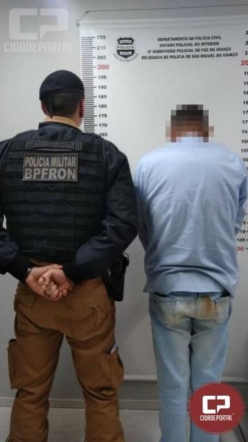 BPFron compre mandado de prisão durante Operação Muralha em São Miguel do Iguaçu