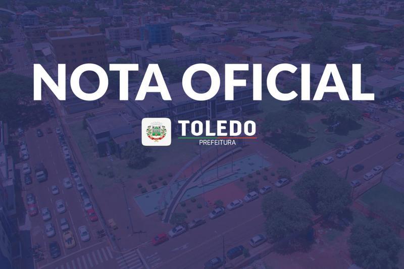 NOTA OFICIAL:  Município de Toledo solicita na Justiça suspensão do decreto estadual