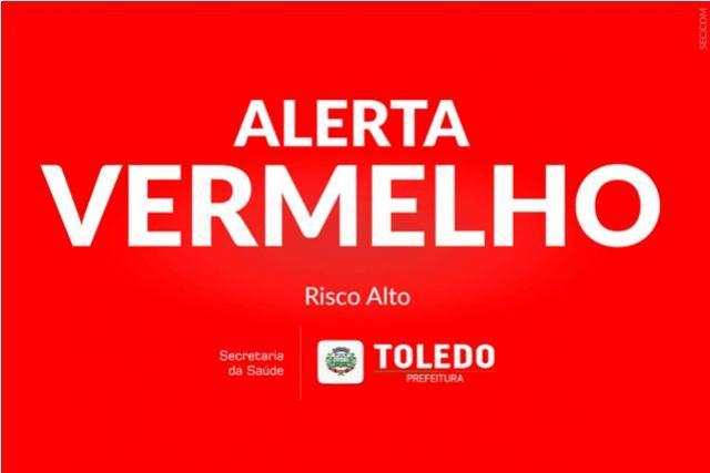 Com 6 óbitos de Covid-19 na última semana, Toledo emite Alerta Vermelho