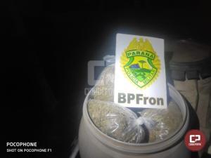 BPFron apreende veículo carregado com maconha em Capitão Leônidas Marques