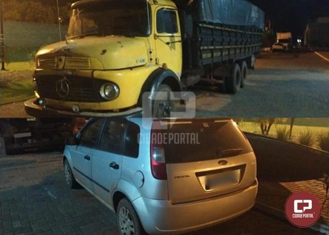 PF e BPFron prendem contrabandista e apreendem veículos carregado com contrabando em Mercedes