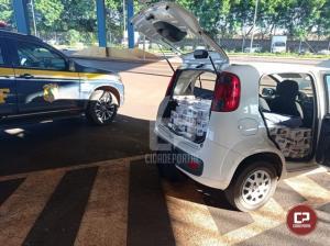 PRF apreende veículo carregado com cigarros em Marechal Cândido Rondon