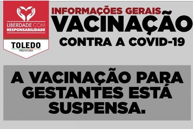 Ministério da Saúde suspende vacinação de gestantes com AstraZeneca