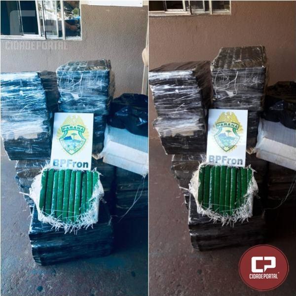BPFron apreende 354 kg de entorpecentes em Foz do Iguaçu/PR