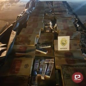 BPFron apreende caminhão carregado com cigarros contrabandeados em Santa Helena