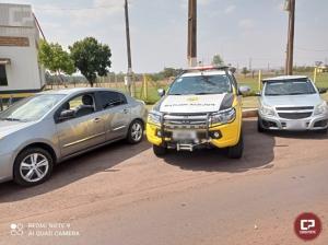 Equipe ROTAM de Cascavel apreende 2 veículos carregados com cigarros próximo ao município de Entre Rios do Oeste