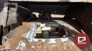 PRF apreende meia tonelada de maconha escondida em tanque de caminhão em Alto Paraíso