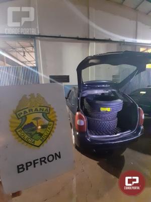 Operação Hórus realiza apreensão de carro carregado com pneus de caminhão em Foz do Iguaçu