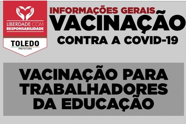Covid-19: Trabalhadores da educação começam a vacinar na quarta-feira, 12