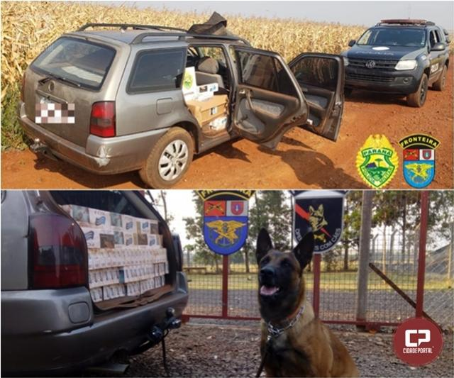 BPFron apreende veículo carregado de cigarros contrabandeados em Nova Santa Rosa