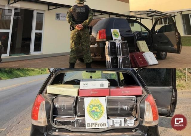 BPFRON apreende veículo carregado com vinhos de origem argentina em Francisco Beltrão