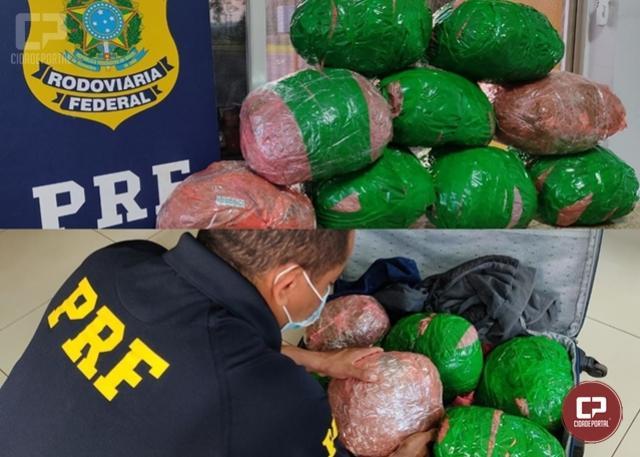 PRF apreende droga em veículo que fazia o transporte de pessoas em Santa Terezinha de Itaipu